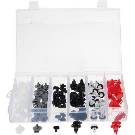 Surtido de clips de retención de sujetadores interiores y exteriores de 124 piezas para Mini Cooper