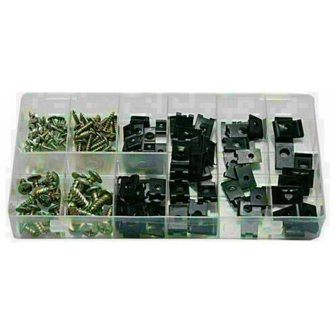 Surtido de tornillos y tuercas o clips carroceria de coche 170 piezas