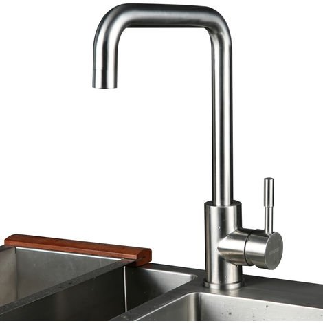 SUS304 360 ° Rotating Stainless Steel Mixer with ABS Bubbler Single Lever Mixer Mixer Taps Kitchen Taps