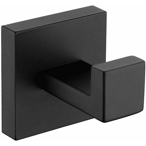 "main image of ""SUS304 Stainless Steel Wall Mounted Towel Bar, Black Finish, Bathroom and Kitchen Towel Rack Holder Black Towel Hook SOEKAVIA"""