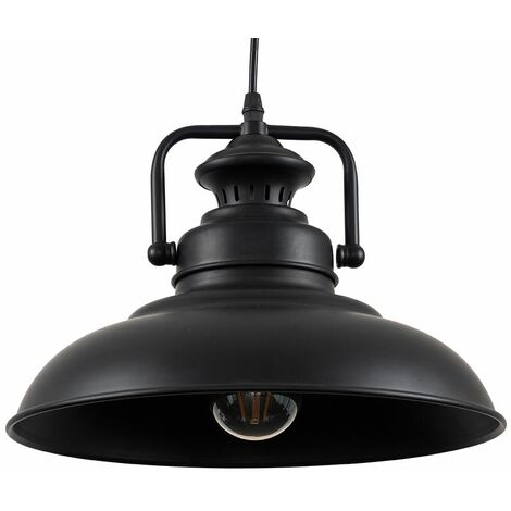 Suspended Ceiling Light Pendant Shades Industrial - Black