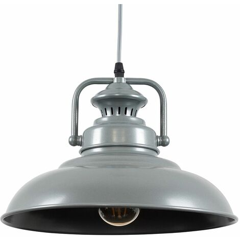Suspended Industrial Ceiling Light Pendant Shades - Grey