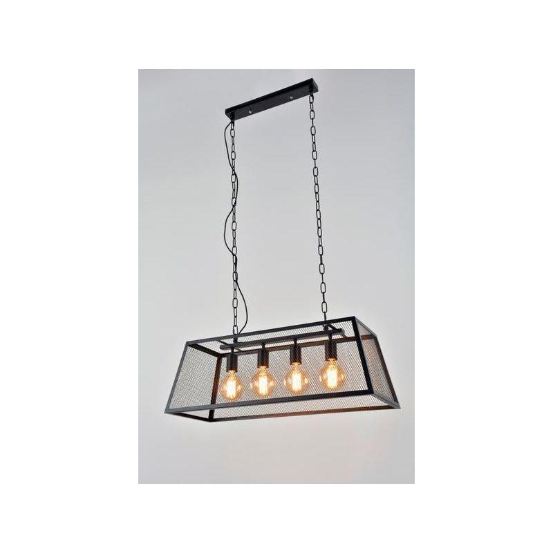 Métal Design Suspension Corep Stock Noir 651370 Lampes 4 PTOZuwXki