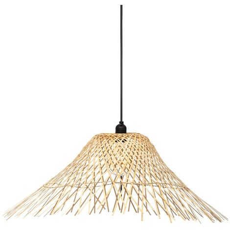 Suspension bambou Moxa naturel D76 - Beige
