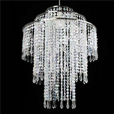 Suspension baroque Lustre perles transparentes oriental Lampe plafonier