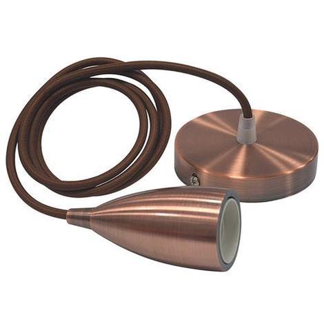 """main image of """"Suspension câble (1m) Edison cuivre E27 IP20 max 60W"""""""