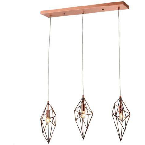 Suspension design triple losange cuivré - Graz - Cuivre