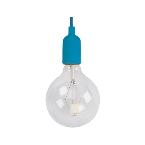 Suspension design Vellight bleue ampoule filaments led diam 12,5 extra bubble