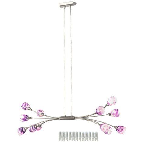 Suspension éclairage cuisine table plafond suspendue verre lampe Strahlerim Kit comprend des lampes Á LED