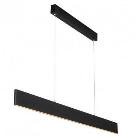 Suspension fine bureau Raya LED L119 cm - Noir - Noir