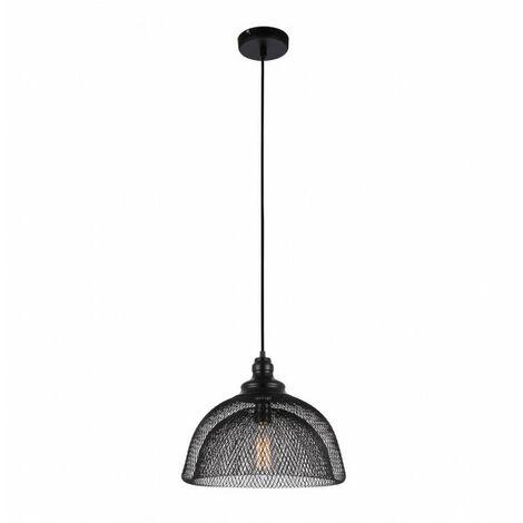 Suspension industrielle et rétro Julienne Noir en métal 1 ampoule