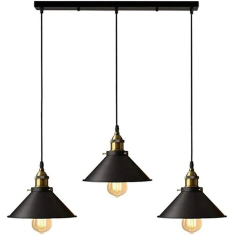 E27 12 Ampoules Industriel Vintage Plafonnier Lampe Lustre Chandelier Abat-jour
