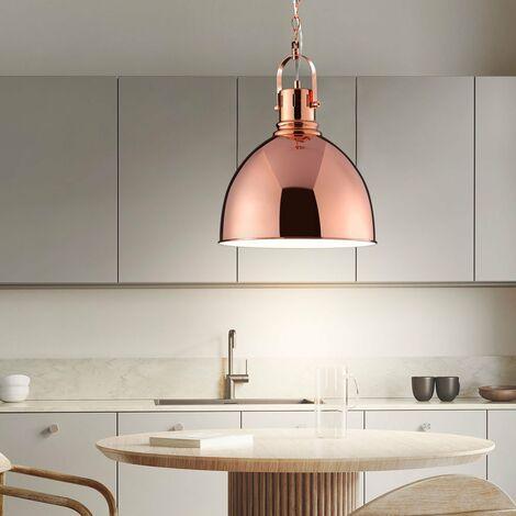 Salle Á manger cuisine éclairage lampe suspension lumière luminaire métallique TRIO 300500109