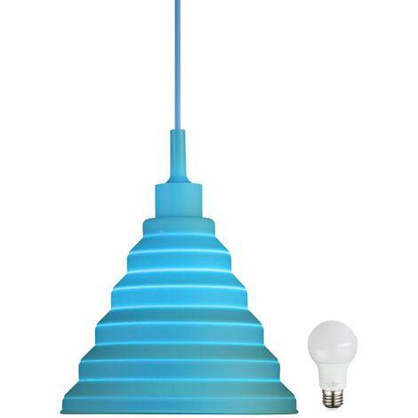 Suspension lampe cuisine éclairage plafond suspendu lampe bleue dans le jeu inclus source lumineuse de LED