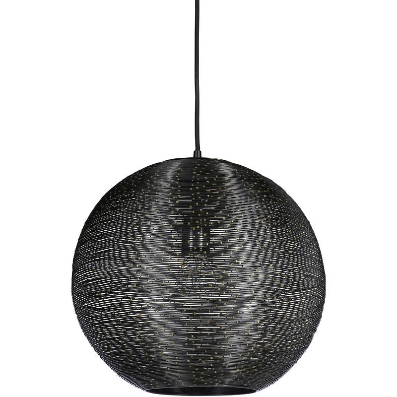 Suspension 33 De Noir Abat Plafond Fil Fer Métal Lampe Luminaire En M Rond Et Points Diamètre Jour hQsCtrdx