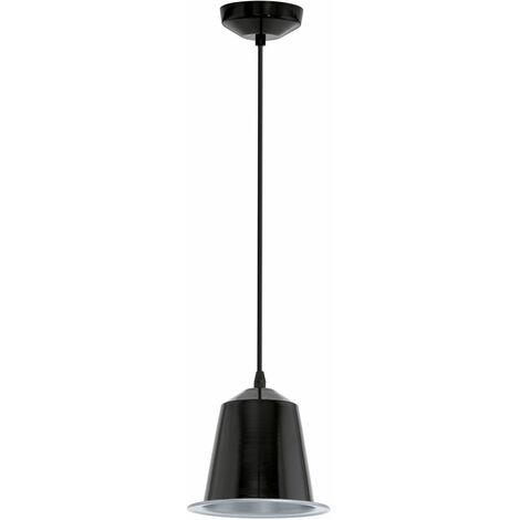Suspension LED, acier, noir brillant, IP20 GINOSA