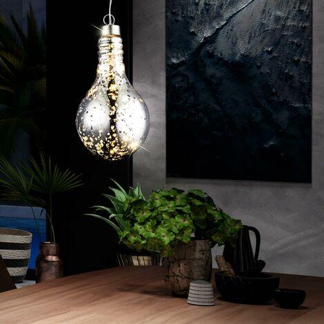 Suspension LED décorative, design ampoules, hauteur 68 cm, CRETE