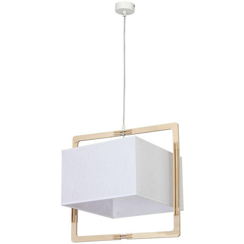 Home Mania - Suspension luminaire design Vega - 41 x 35 x 80 - Blanc