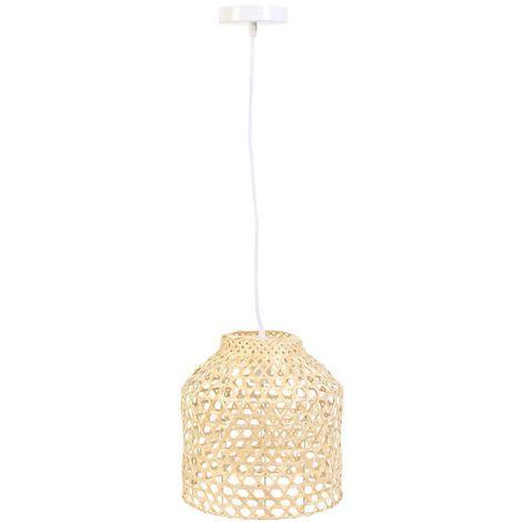 Suspension luminaire en bambou Scandi - H. 178 cm - Beige - Beige