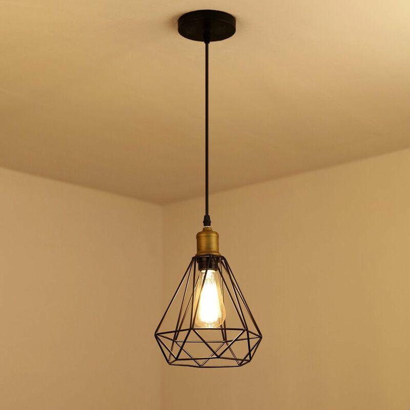 Suspension luminaire industrielle vintage, lampe de ...