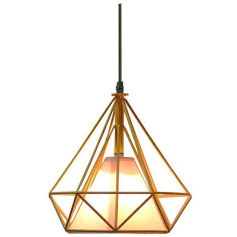 9cbf20fc3dec3 Suspension luminaire Lustre Abat-jour Industrielle forme Diamant ...
