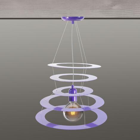 Suspension luminaire violet Eclairage suspendue pour plafond Lampe Compatible LED