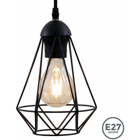 Suspension métal design rétro éclairage style industriel vintage pour ampoule E27 max. 40W