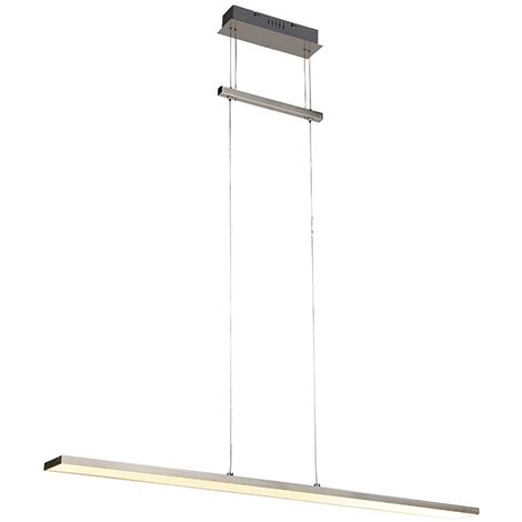 Qazqa Luminaire InclRiley Moderne Led Suspension Acier Interieur JF1lKc