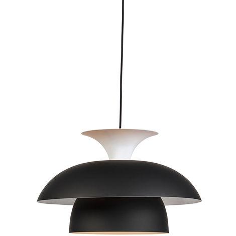 Qazqa Moderne Titus Noir Ronde Blanc Couches Et 3 Suspension 5jqSc3A4RL