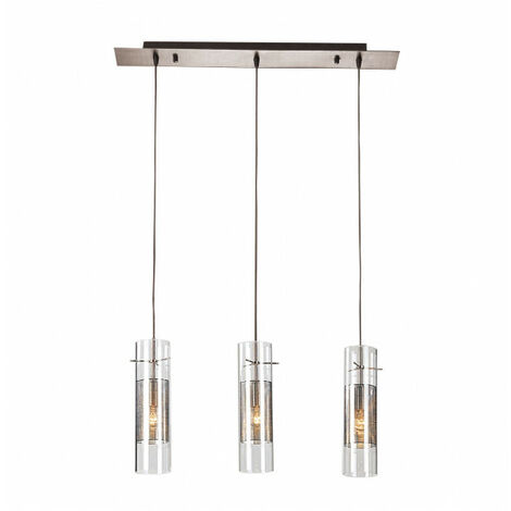 Suspension moderne Vicky Chrome 3 ampoules
