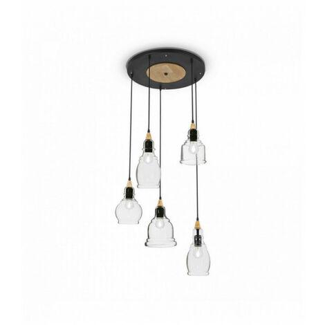 Suspension Noire GRETEL 5 ampoules