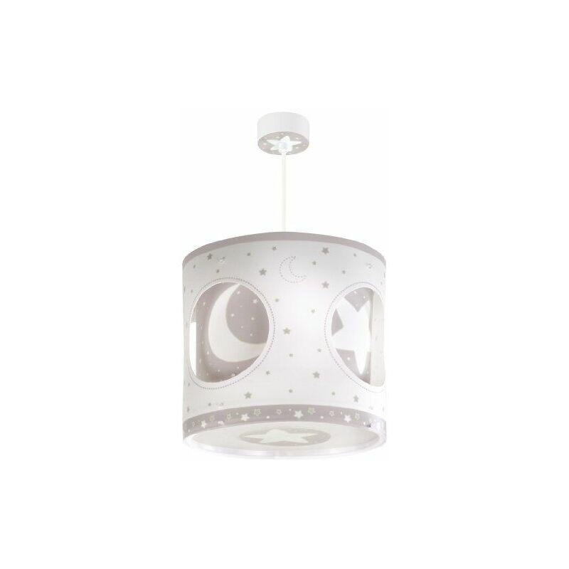 63234E - Lampe de Plafond - Suspension Rotative - Lune - Brun - Dalber