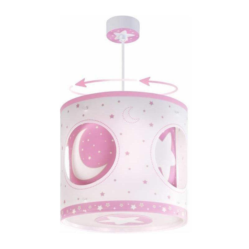 63234S - Lampe de Plafond - Suspension Rotative - Lune Rose - Dalber