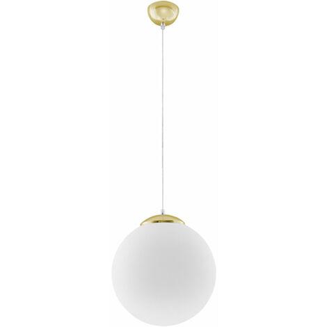 Suspension salle à manger blanc doré suspension lampe acier suspension salon plafonnier, blanc doré, 1x E27 max.60W, DxH 30 x 80 cm