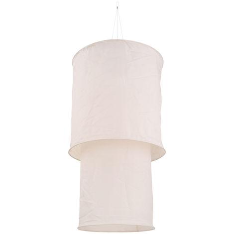 Suspension solaire à LED, lin, blanc, H 100 cm