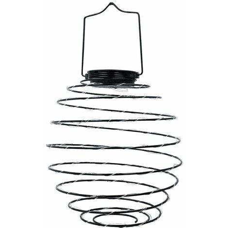 Suspension solaire spirale ORION noir acier H37cm