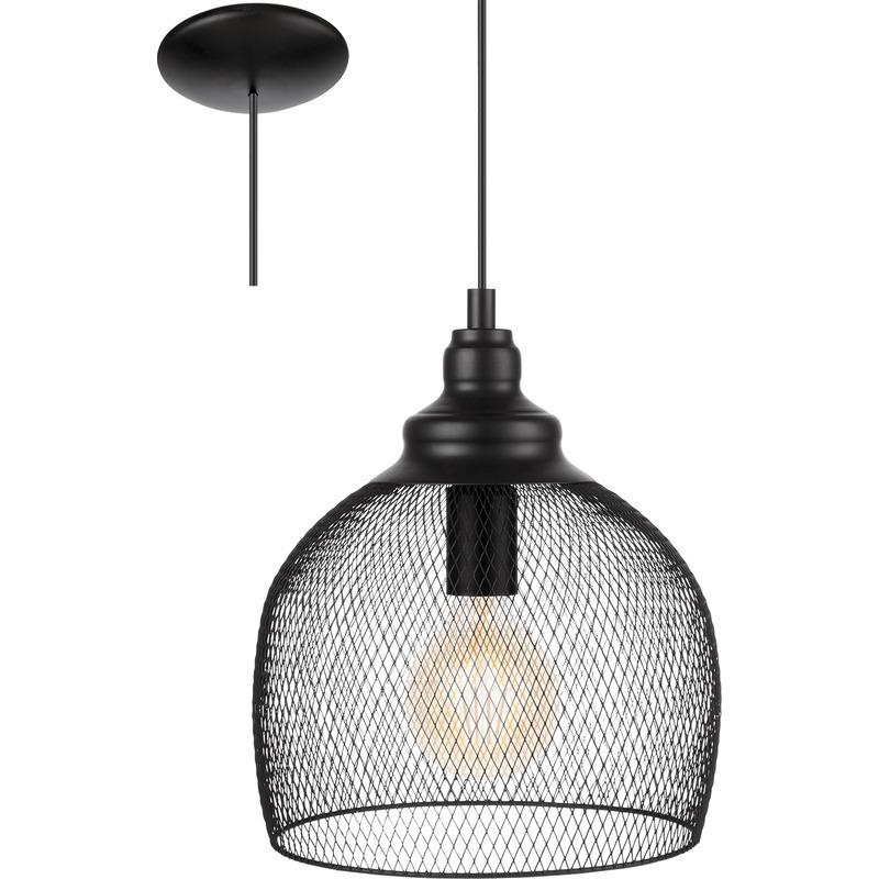 D'intérieur Luminaires Suspension Eglo Noir Straiton TKuc5F1J3l