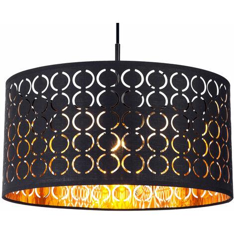Suspension textile en or noir pour le salon CLARKE - 15329H