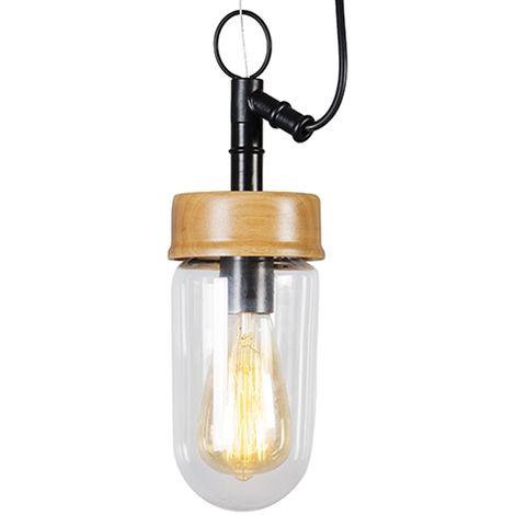 Industriel Vacio Qazqa Bois Suspension VintageRetro Luminaire kZiuPXO