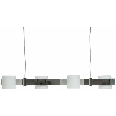 Suspension verre opale lampe luminaire lustre chrome salle Á manger éclairage
