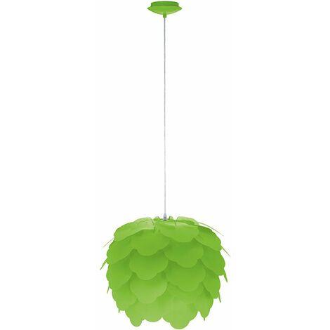 Suspension vert bureau lustre fleur floral luminaire acier Eglo Filetta 92988