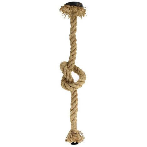 Suspension vintage, corde de chanvre, culot E27 | Xanlite