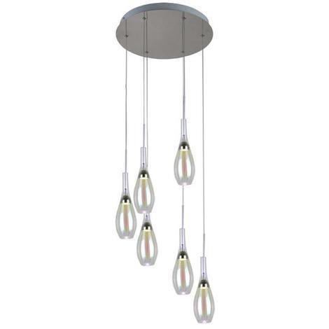 5 Lo00016470 Lampes Lo Design Chrome Led Venise Métal Suspensions Verre 6gybYf7v