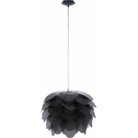Suspensions anthracite fleur salle Á manger lampe lustre acier éclairage Eglo Filetta 92989