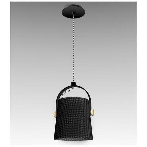Suspensions NORDICA Noir Bois E27 1x23W 40-150cm