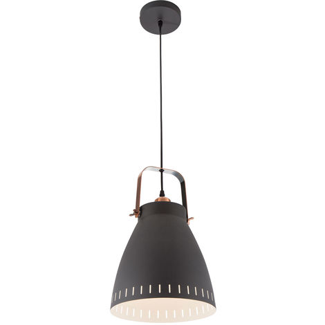 Suspensions vivant lampe suspendue cuisine salle à manger plafond lumière noire Nino 30610108 lumières