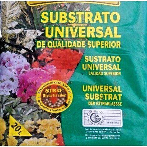 Sustrato Universal Calidad Superior. Bioestimulante Natural. Envase de 20 Litros