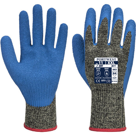 sUw - 1 Pair Pack Aramid HR Cut Latex Hand Protection Glove