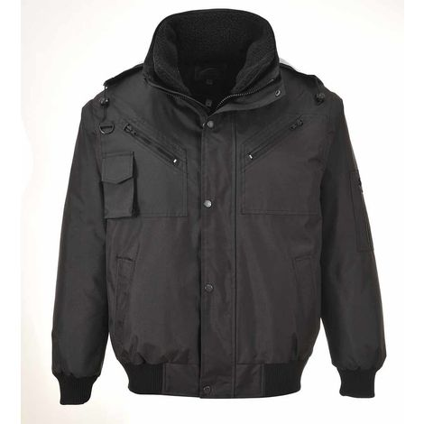 sUw - 3-in-1 Waterproof Workwear Bomber Jacket With Hood