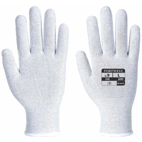 sUw - Antistatic ESD Shell Liner Glove (6 Pair Pack)